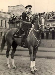Маршал Жуков на лошади