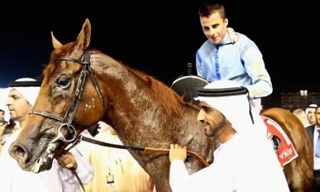 Принц Бишоп после победы в Дубайском Кубке