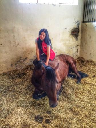 Дарья Шипилова и ее лошадь Лорд Роял