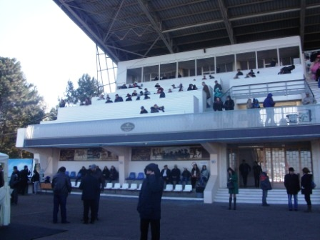 Трибуна Краснодарского ипподрома октябрь 2015 года