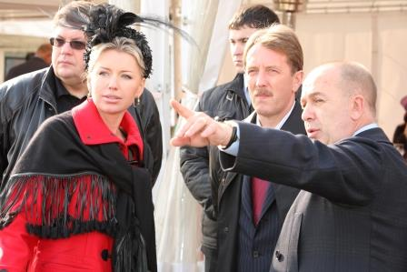 В.С.Козлова с Министром с-х и Сергеем Эфросом