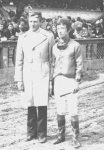 Тренер скаковых лошадей А.П.Белозеров