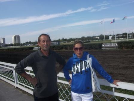 Марина и Николай Хлудеевы на Ростовском ипподроме