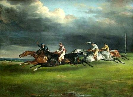 Картина с изображением скачки