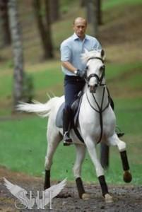Президент на лошади