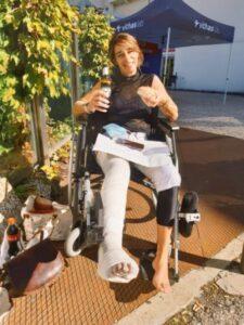 Ньевес на следующий день после перелома